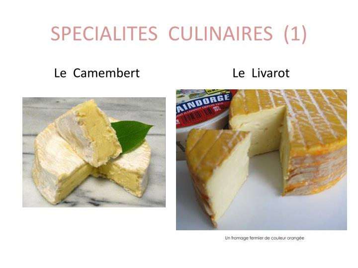 SPECIALITES  CULINAIRES  (1)