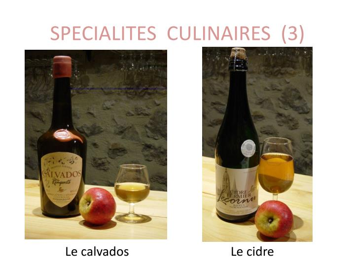 SPECIALITES  CULINAIRES  (3)