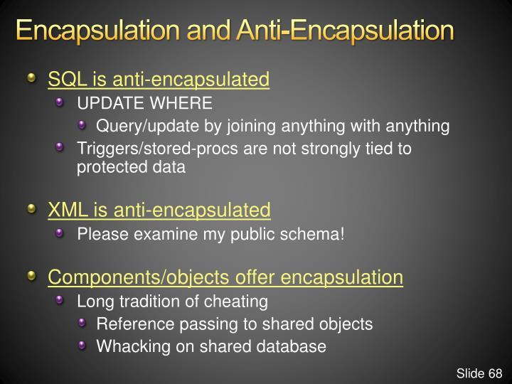 Encapsulation and Anti-Encapsulation