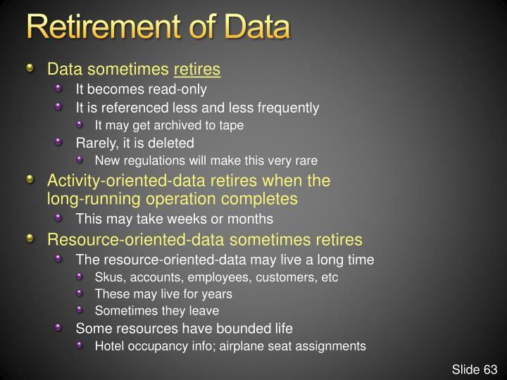 Retirement of Data