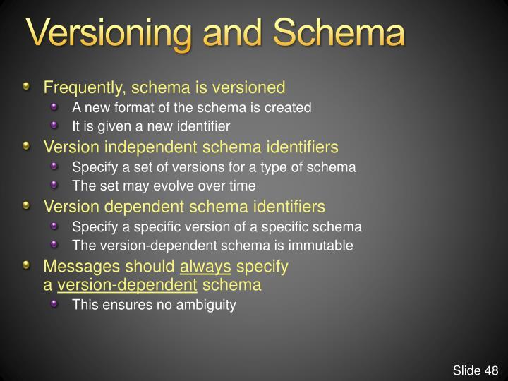 Versioning and Schema