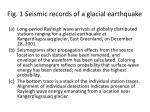 fig 1 seismic records of a glacial earthquake