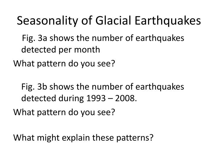 Seasonality of Glacial Earthquakes