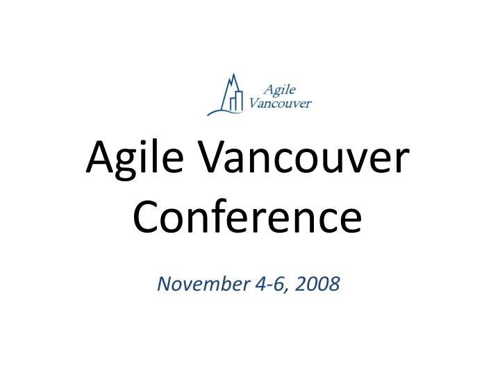 Agile Vancouver Conference