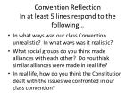convention reflection in at least 5 lines respond to the following