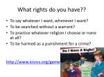 what rights do you have