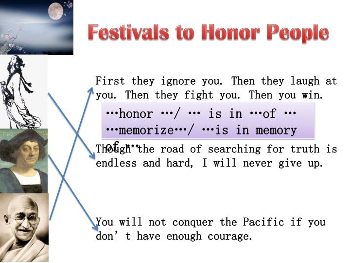 Festivals to Honor People