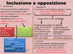 inclusione e opposizione