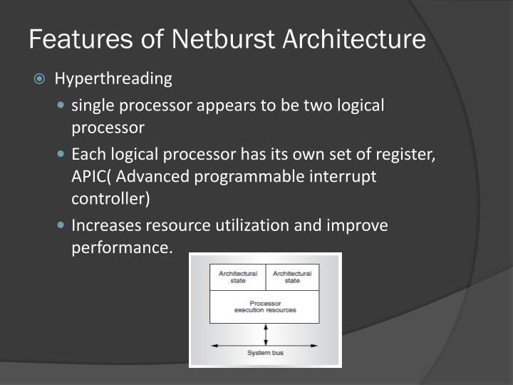 Features of Netburst Architecture