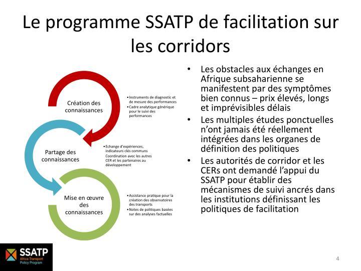 Le programme SSATP de facilitation sur les corridors