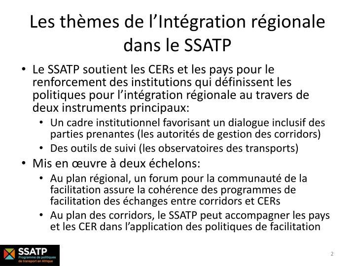 Les thèmes de l'Intégration