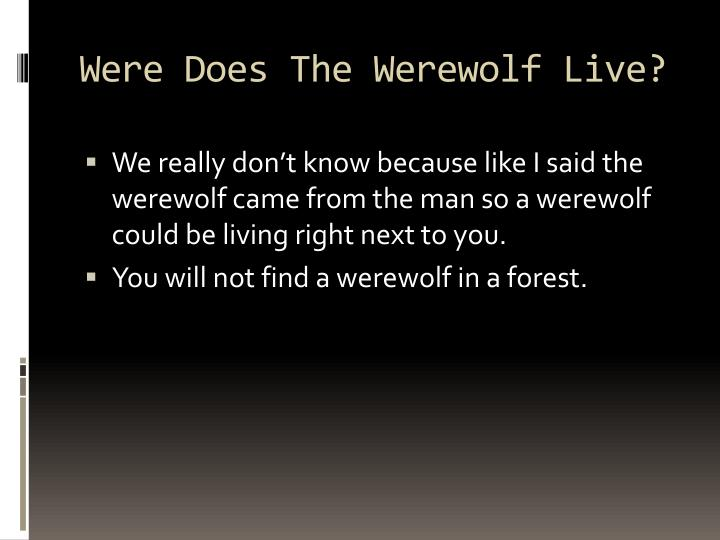 Were Does The Werewolf Live?