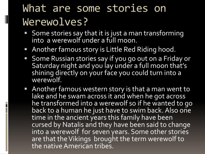 What are some stories on Werewolves?