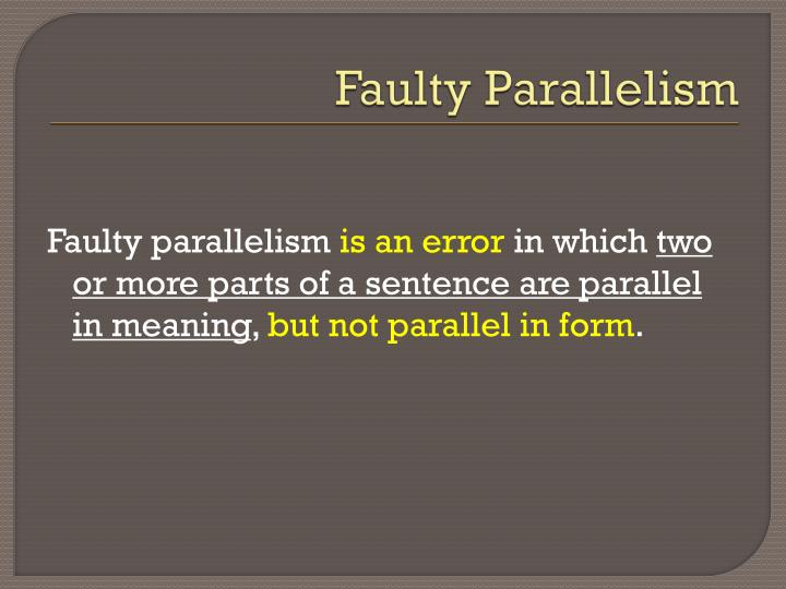 Faulty parallelism1