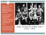 adolf hitler in world war i 1914 1918