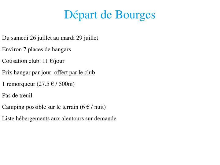 Départ de Bourges