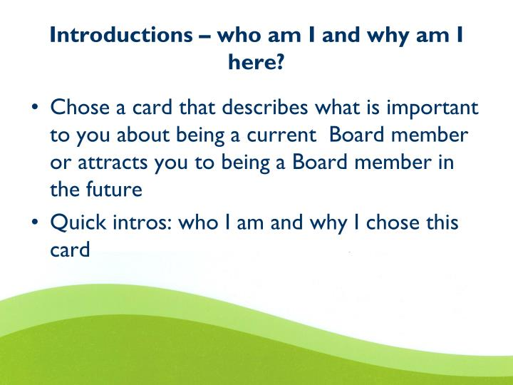 Introductions – who am I and why am I here?