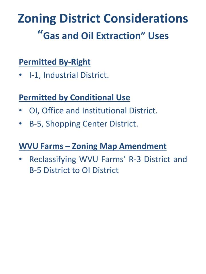 Zoning District Considerations