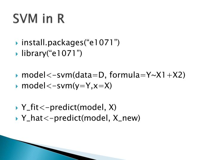 SVM in R
