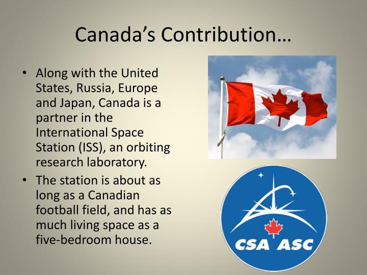 Canada's Contribution…