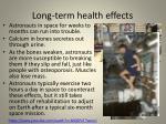 long term health effects