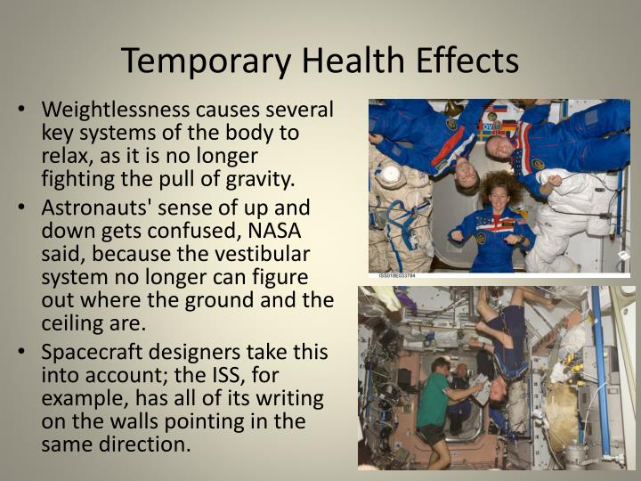 Temporary Health Effects