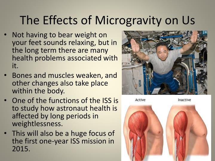 The Effects of Microgravity on Us