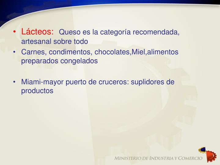 Lácteos: