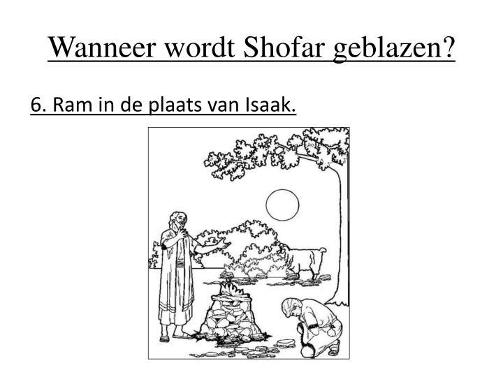 Wanneer wordt Shofar geblazen?
