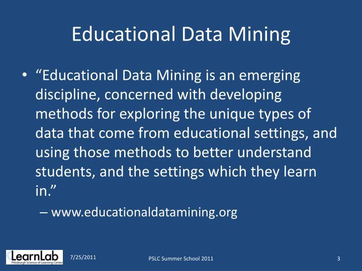 Educational Data Mining