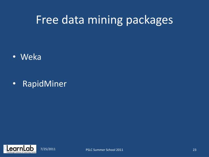 Free data mining packages