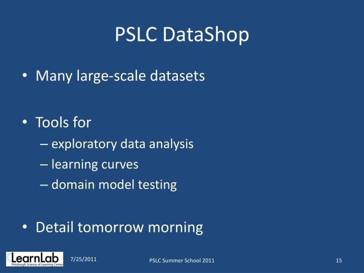 PSLC DataShop