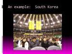 an example south korea