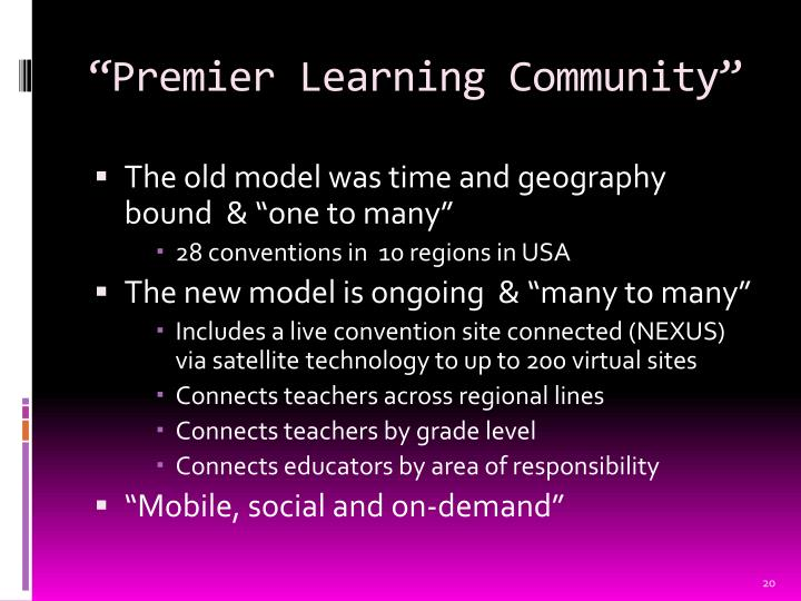 """Premier Learning Community"""