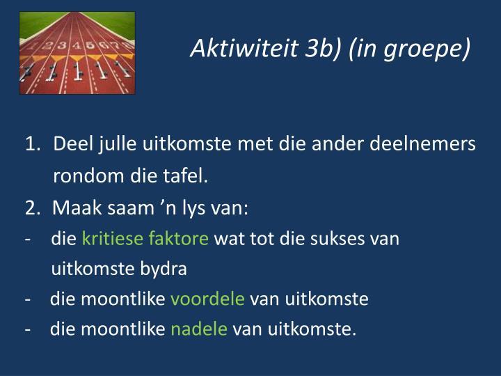 Aktiwiteit 3b) (in groepe)
