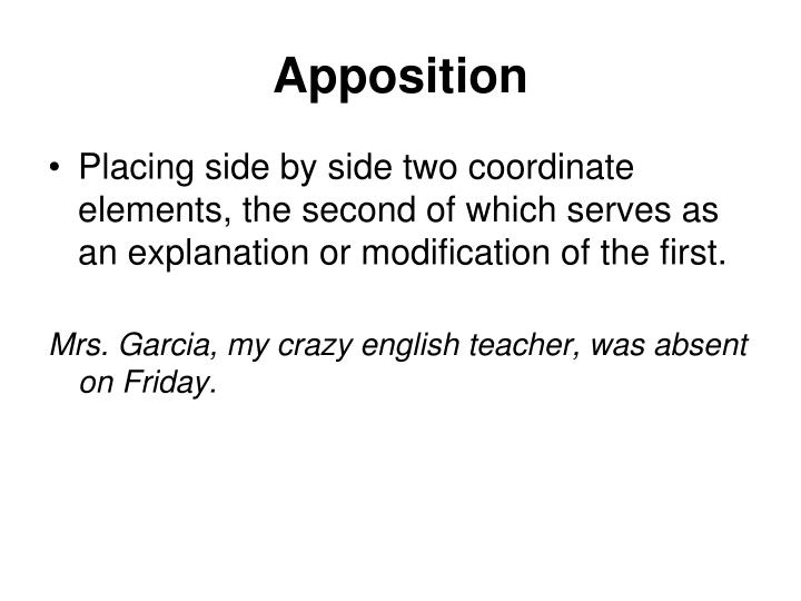 Apposition