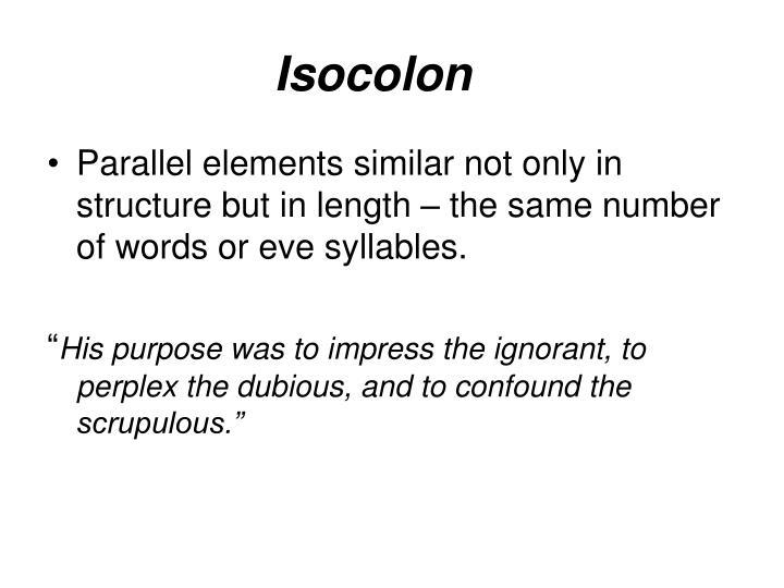Isocolon