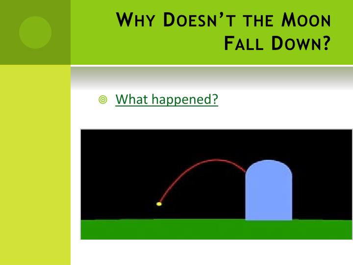 Why Doesn't the Moon Fall Down?