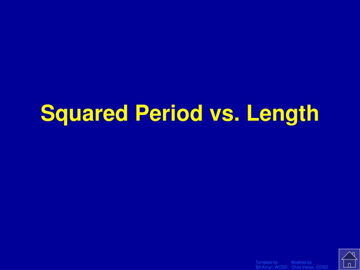 Squared Period vs. Length