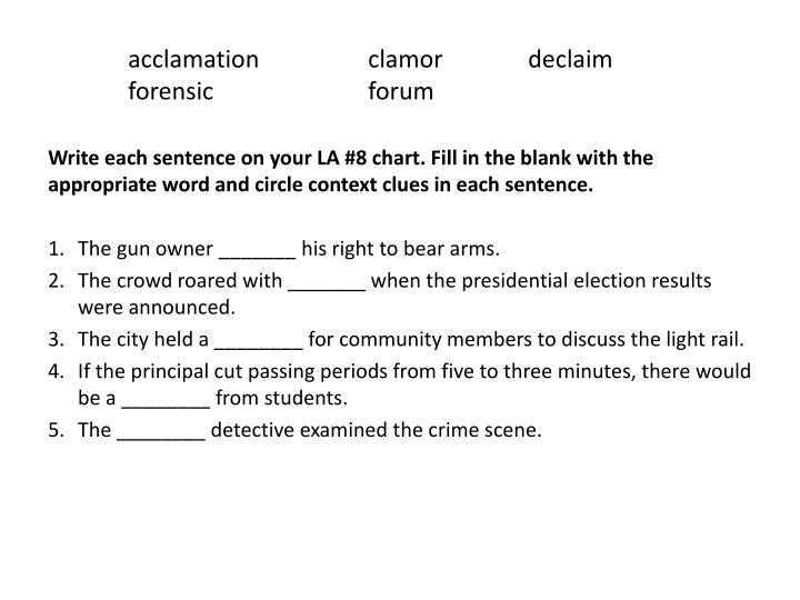 acclamation clamordeclaim