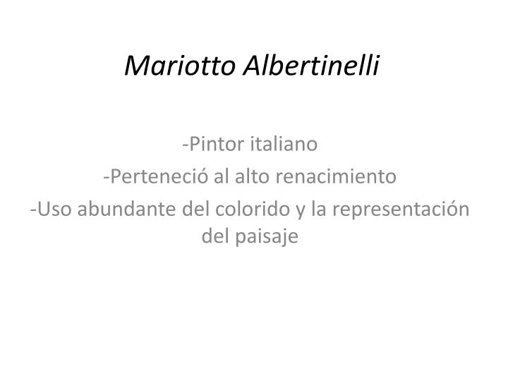 Mariotto albertinelli