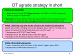 dt ugrade strategy in short