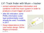 lv1 track finder with muon tracker