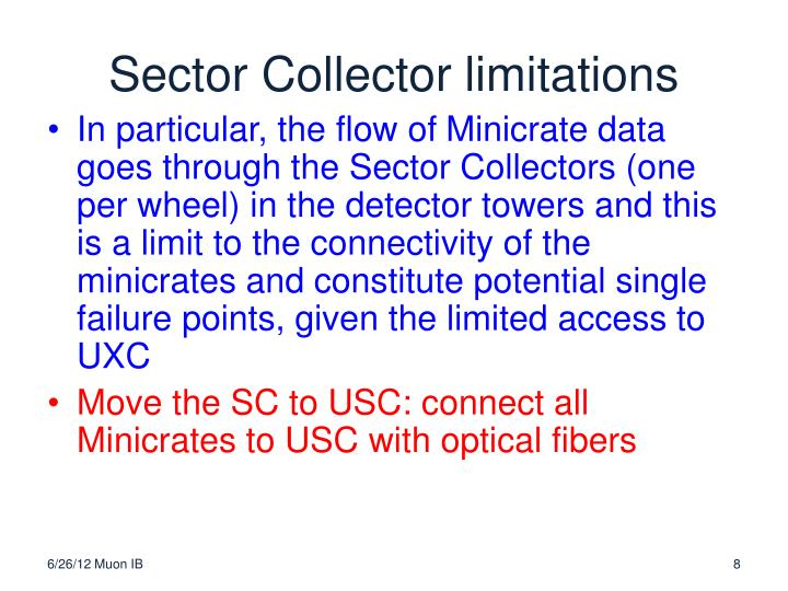 Sector Collector limitations