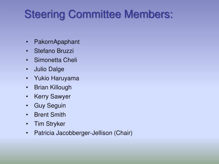Steering Committee Members: