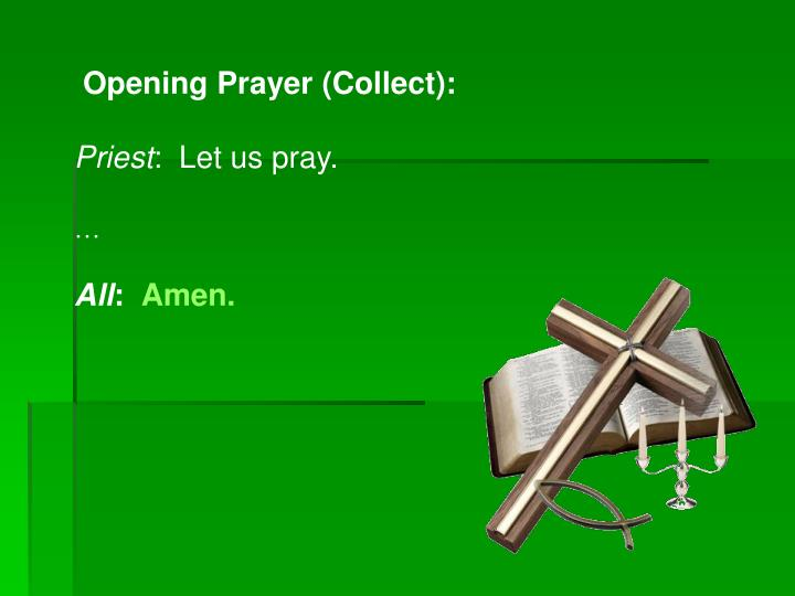 Opening Prayer (Collect):