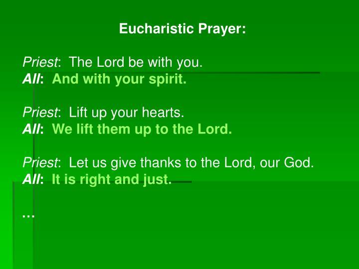 Eucharistic Prayer: