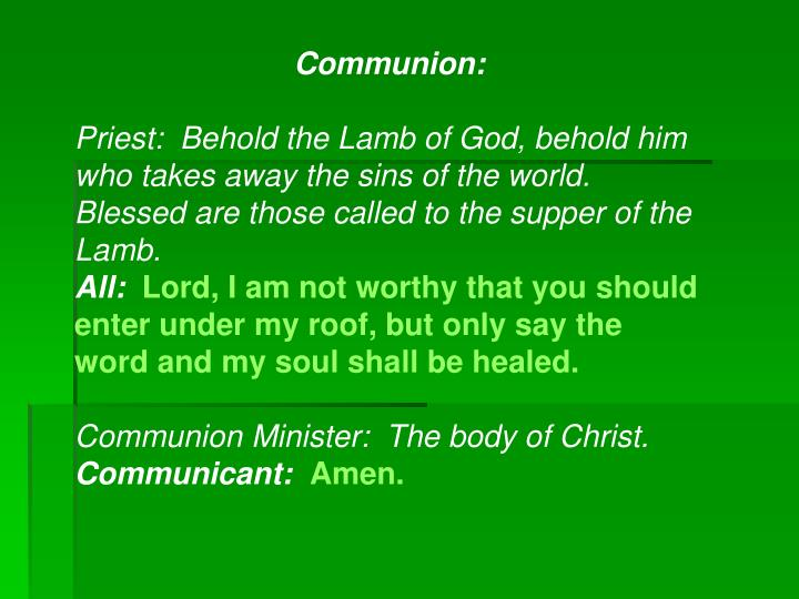 Communion: