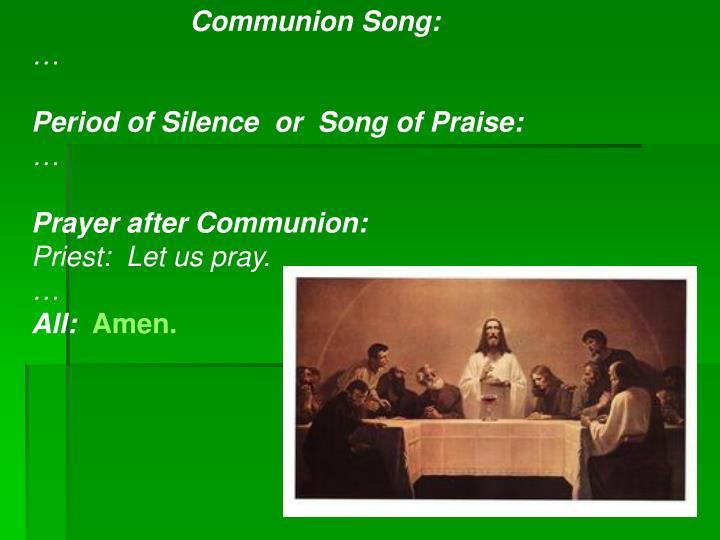 Communion Song: