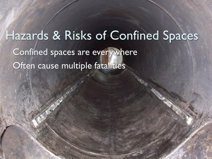 Hazards risks of confined spaces